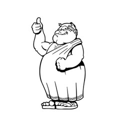 roman emperors cartoons character vector image