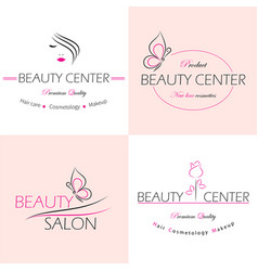 set logo templates labels and badges vector image