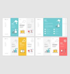 Set website template designs vector