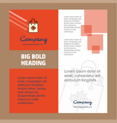 shopping bag company brochure title page design vector image