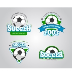 Soccer football badges logos t-shirt vector