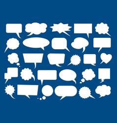 speech bubbles blank boxes vector image