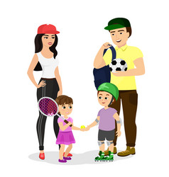 sport family dad mother vector image