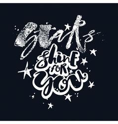 Stars shine for you love motivation poster vector