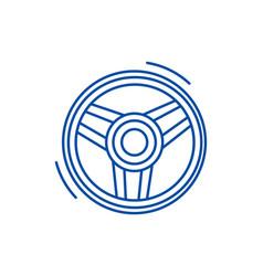 steering wheel line icon concept steering wheel vector image