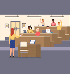 student lecture hall conference auditorium vector image