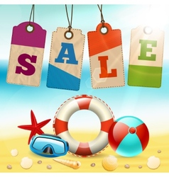 Summer sale wallpaper vector