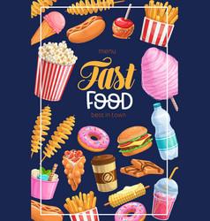 takeaway meals street food banner vector image