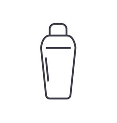 thermos line icon sign on vector image