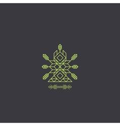 Totem Decorative Line Art Element Geometric Style vector