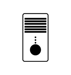 Tower cpu isolated icon vector
