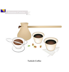 traditional turkish coffee popular drink in bosni vector image