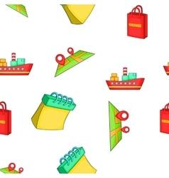 Transfer pattern cartoon style vector image