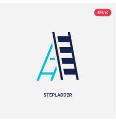 Two color stepladder icon from general concept vector