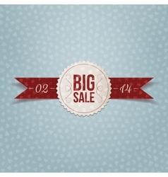 valentines day big sale realistic white label vector image