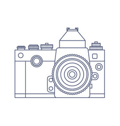 Vintage old photo camera logo design vector