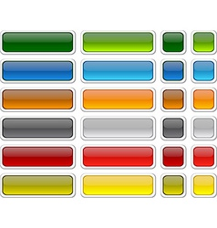 Web blank buttons vector