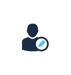 write user logo icon design vector image