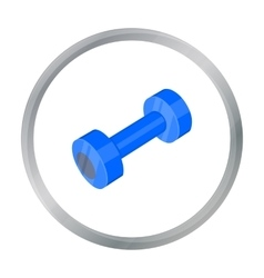 Dumbbells icon cartoon Single sport icon from the vector image