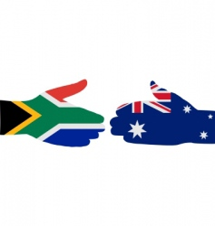 international handshake vector image vector image