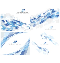 3d checked background set vector image vector image
