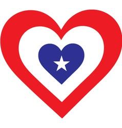 America Heart vector image