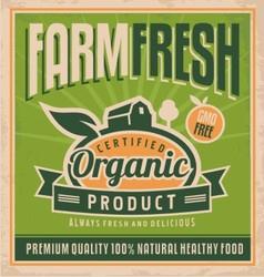 Retro farm fresh food concept vector image vector image