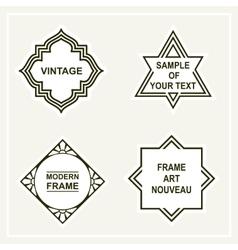 Set of retro vintage badges frames labels vector image vector image
