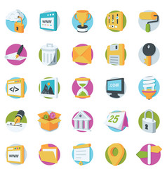web design and development icons vector image vector image