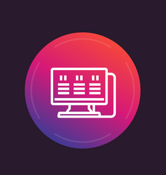 workstation line icon vector image
