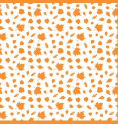 autumn seamless pattern with leave vector image vector image