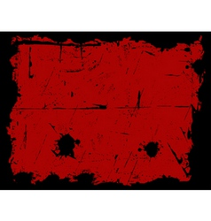 black and red grunge border vector image vector image