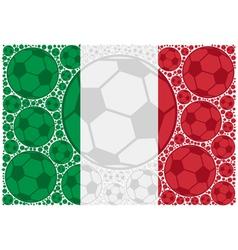 Italy soccer balls vector image vector image