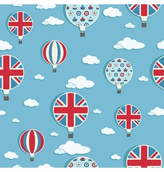 uk hot air balloons vector image vector image