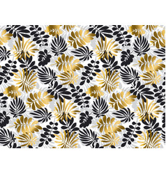 black and gold luxury tropical leaves seamless vector image