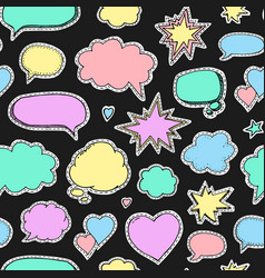 hand drawn set of speech bubbles seamless vector image vector image