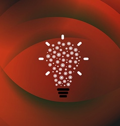 Strategy red background vector image vector image