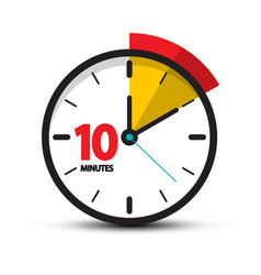 10 minutes clock face ten minute icon vector