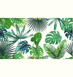 4k green tropical seamless pattern vector