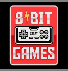 8 bit retro old gamepad vector