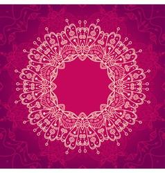 Abstract mandala frame vector