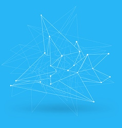 Abstract polygonal geometry shape background Eps10 vector