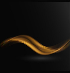 abstract waves on black background vector image
