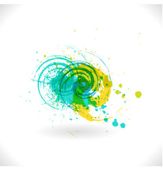 art inks grunge curl abstract symbol vector image