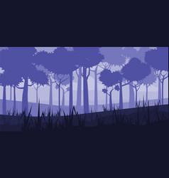 Background of landscape with deep deciduous forest vector