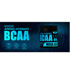 Bcaa container with hi-tech background vector