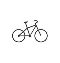 bicycle icon flat vector image