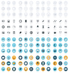 Business flat design icons Set 4 Styles Big Pack vector