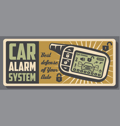 Car alarm ans auto security systems service poster vector