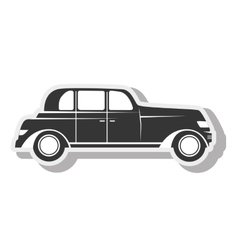 Car black sedan transport design vector